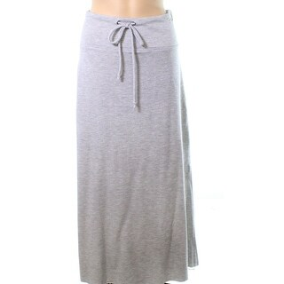 Caslon NEW Gray Womens Medium PM Petite Drawstring Stretch Knit Skirt