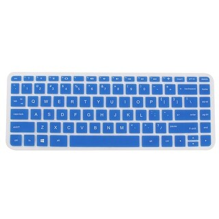 Computer Silicone Anti Dust Protector Skin Keyboard Cover Blue for HP 14 inch