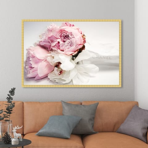 Oliver Gal 'Peonies and Magnolia Love' Fashion and Glam Framed Wall Art Prints Lifestyle - Pink, White