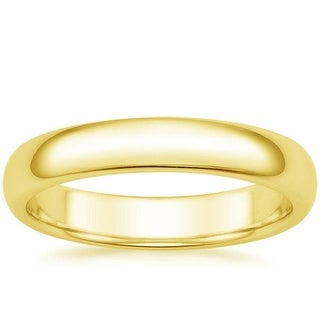 Mcs Jewelry Inc 14 KARAT YELLOW GOLD COMFORT FIT WEDDING BAND (4MM)