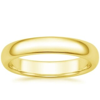 Mcs Jewelry Inc 14 KARAT YELLOW GOLD COMFORT FIT WEDDING BAND (4MM) (Option: 6)