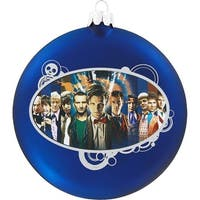 Dr. Who Glass Disc Ornament