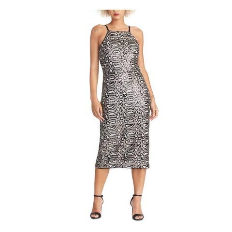 RACHEL ROY Black Sleeveless Midi Dress 4