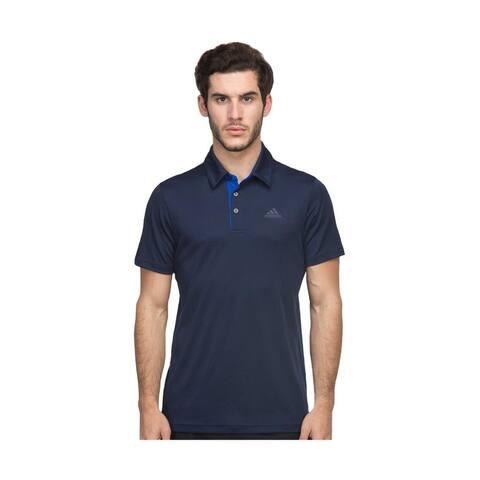 85cd98fb Adidas Men's Tennis Challenger Conavy/Croyal Blue Polo Shirt 2XLarge