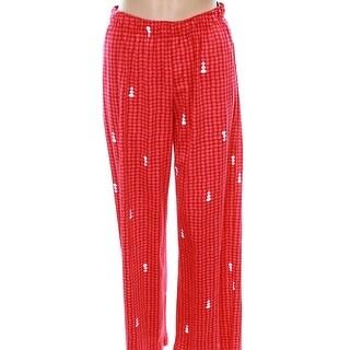 HUE NEW Red Women's Size 1X Plus Snowman Polka-Dot Stretch Lounge Pants