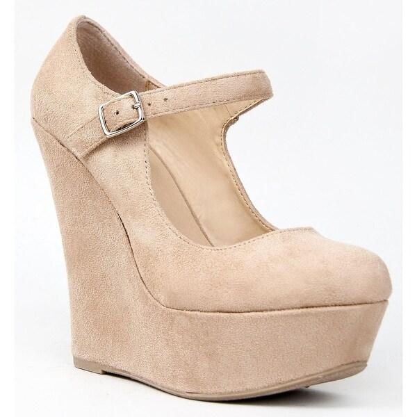 Delicious Women Kayla-S Pumps-Shoes - oatmeal isu - 7.5 b(m) us