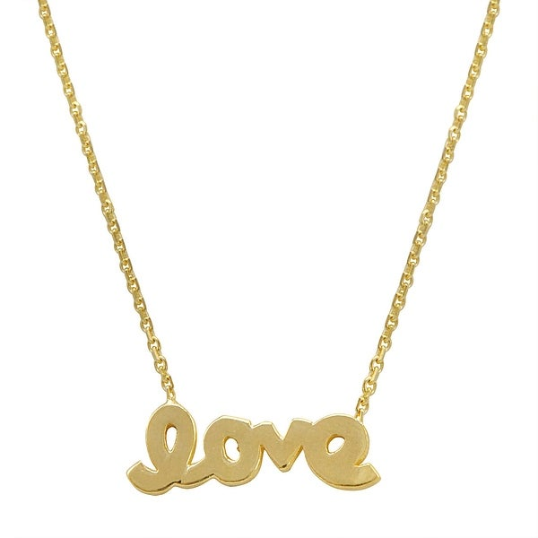 Amanda Rose 14k Yellow Gold Love Necklace