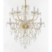 Crystal 10 Light Chandelier Gold
