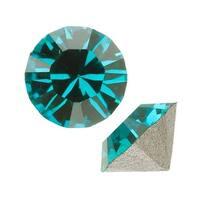 Swarovski Elements Crystal, 1088 Xirius Round Stone Chatons pp32, 24 Pieces, Blue Zircon