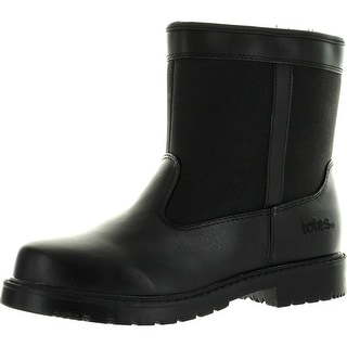 Totes Stadium Mens Waterproof Insulated Side Zip Winter Snow Boot Black
