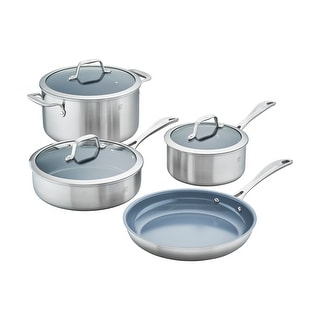 ZWILLING Spirit 3-ply 7-pc Stainless Steel Ceramic Nonstick Cookware Set - STAINLESS STEEL