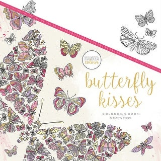 """KaiserColour Perfect Bound Coloring Book 9.75""""X9.75""""-Butterfly Kisses"""