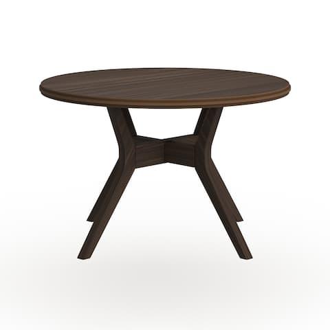 Copper Grove Klisura Mid-century Grey Round Dining Table