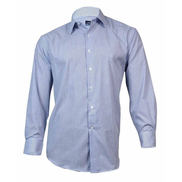 John Ashford Men's Fineline Stripe Dress Shirt (Blue Finest, 17/34x35) - blue finest - 17x34-35""