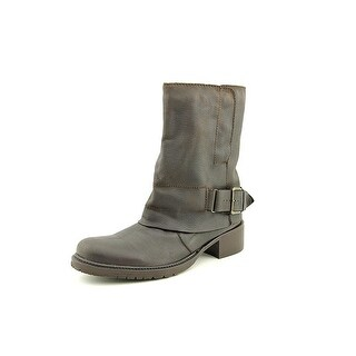 Adam Tucker Womens Ledger 4 Leather Almond Toe Mid-Calf Motorcycle Boots (More options available)