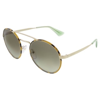 Prada PR51SS 7S04K1 Light Tortoise Round Aviator Sunglasses