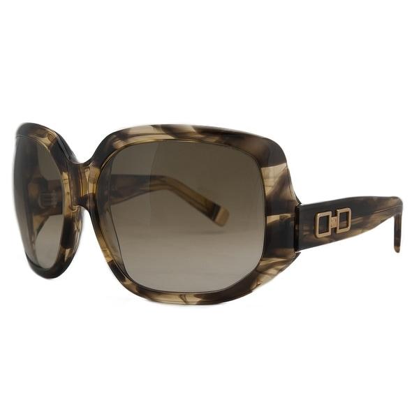 DSquared DQ 0020 50FD Olive Tortoise Oversized Square Full Rim Sunglasses - 63-16-125