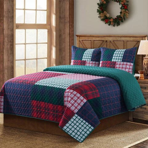 Country Living Knox Plaid Quilt Set