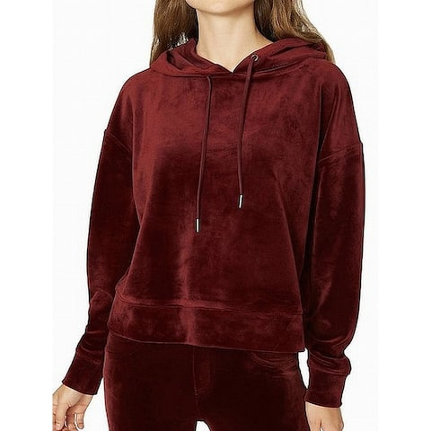 Sanctuary Red Melrose Brigade Women Small S Velour Hooded Sweater
