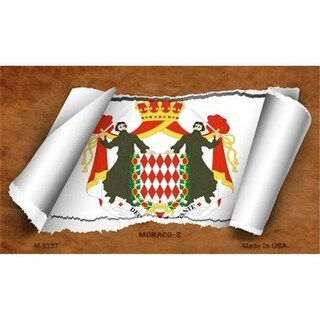 Smart Blonde M-9237 Monaco-s Flag Scroll Novelty Metal Magnet
