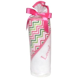 Loved Hooded Towel Set, Cotton Candy Multi Chevron - 2 Piece