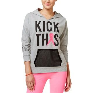 Material Girl Womens Juniors Hoodie Graphic Long Sleeves - S
