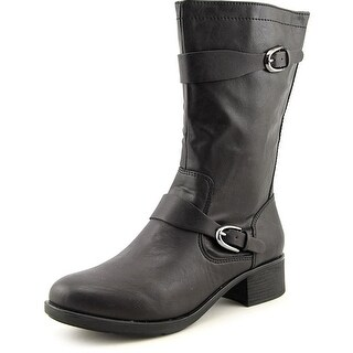 Style & Co Clemint Women Round Toe Synthetic Black Mid Calf Boot