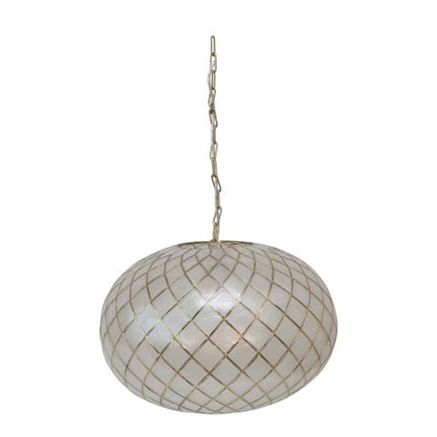 Metal Ceres Capiz Pendant Lamp