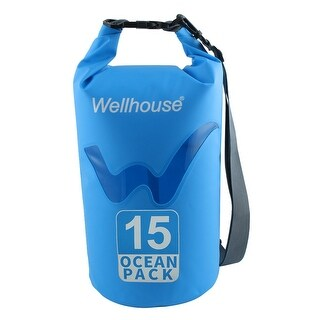 Wellhouse Authorized Underwater Travelling PVC Dry Bag Pouch Backpack Blue 15L