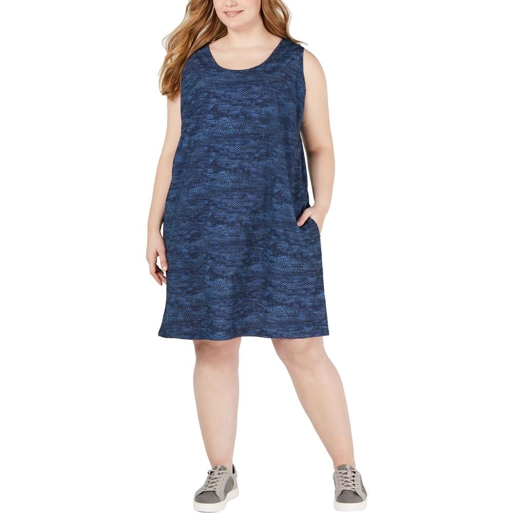 Columbia Womens Plus Anytime Dress Sleeveless Active