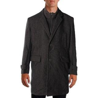 MICHAEL Michael Kors Mens Coat Herringbone Long Sleeves