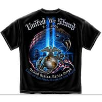 September 11th 911 United We Stand Marine Corps Military Adult T-Shirt