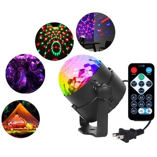 Party Disco Lights DJ Magic Ball Sound Activated Remote LED Crystal Effect Light