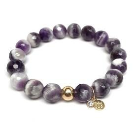 Purple Amethyst 'Emma' Stretch Bracelet, 14k over Sterling Silver