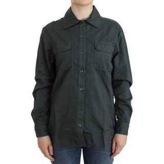Cavalli Cavalli Gray button down shirt - it40-s