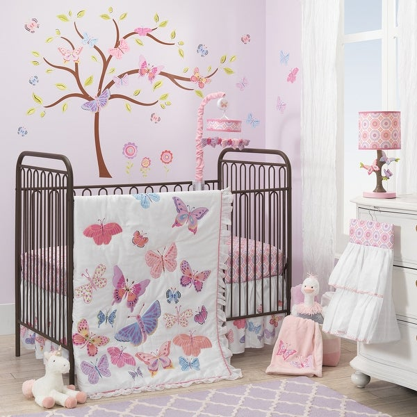 Shop Lambs Amp Ivy Butterfly Garden White Pink Purple