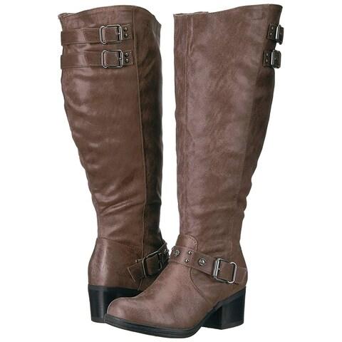 Carlos by Carlos Santana Womens Cara Closed Toe Mid-Calf Fashion Boots