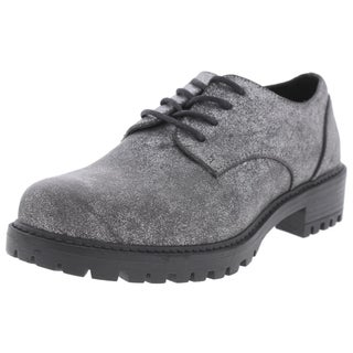 Design Lab Womens Chreneline Oxfords Round Toe Dress (Option: Silver - 37.5 medium(b,m))