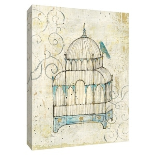 """PTM Images 9-154882  PTM Canvas Collection 10"""" x 8"""" - """"Bird Cage II"""" Giclee Birds Art Print on Canvas"""