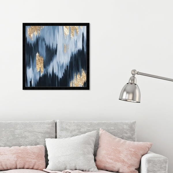 Oliver Gal 'Gold Blue Fall' Abstract Framed Wall Art Prints Paint - Blue, Blue. Opens flyout.