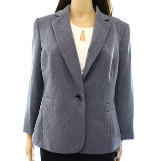 Kasper NEW Blue Women's Size 16 Single Button Notch Collar Blazer
