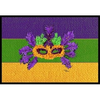 Carolines Treasures 8389JMAT 36 x 24 in. Mardi Gras Indoor Or Outdoor Doormat