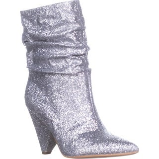 Guess Nakitta Slouch Pull On Ankle Boots, Silver - 8 us