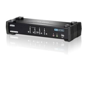 Aten 4-Port Dual-Link Dvi Kvm Cs1784a Usb2.0 And 2.1 Audio Support