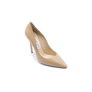 Jimmy Choo Womens Romy 110 Pointed toe Pumps in Nude