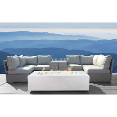 9 Piece Rattan Sectional Seating Group