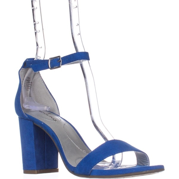 Bandolino Armory Heeled Ankle Strap Sandals, Blue