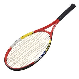 Alloy Tennis Racket Racquet Black Red with White Strings