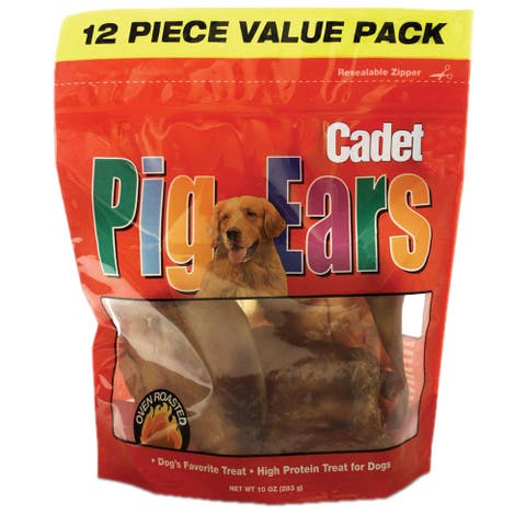 Cadet Natural Pig Ears 12 pack - 12 ears