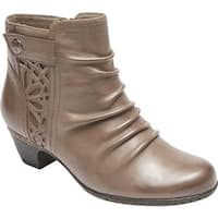 Rockport Women's Cobb Hill Abilene Ankle Boot Grey Leather